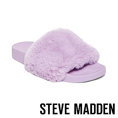 STEVE MADDEN-SOFTEY-LAVENDER-毛絨一字拖-絨紫