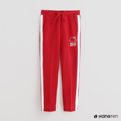 Hang Ten - 童裝 - Sanrio-可愛圖樣配色線條休閒長褲 - 紅