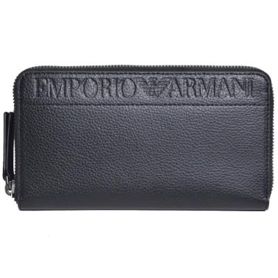 [時時樂限定] EMPORIO ARMANI 經典字母LOGO長夾