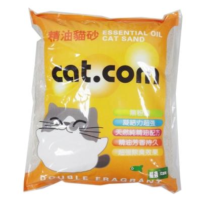 Cat.com精油貓砂10L(檸檬)-三包組