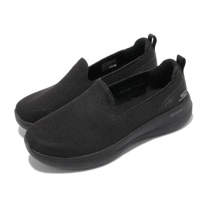 Skechers 休閒鞋 Go Walk Stability 女鞋 寬楦 健走 避震 緩衝 回彈 耐磨 黑 灰 124600WBBK