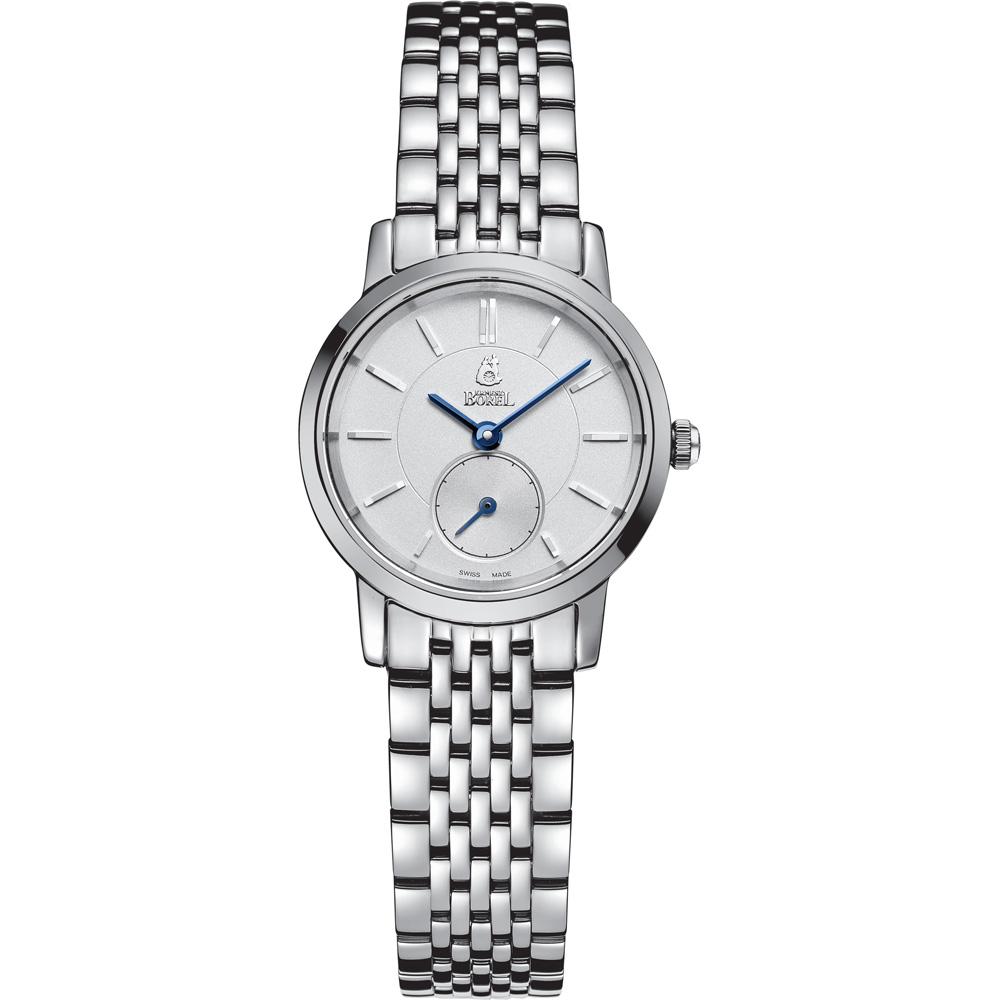 ERNEST BOREL 瑞士依波路錶 喬斯系列 不鏽鋼小秒針-銀色25.5mm