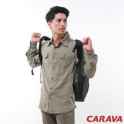 CARAVA《男款日本原紗速乾排汗襯衫》(淺灰綠)