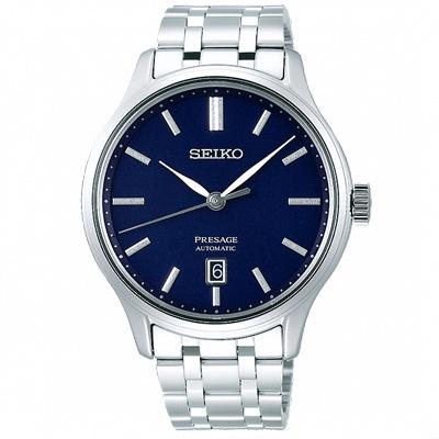 SEIKO 精工典藏風尚機械手錶SRPD41J1-藍X銀/42mm