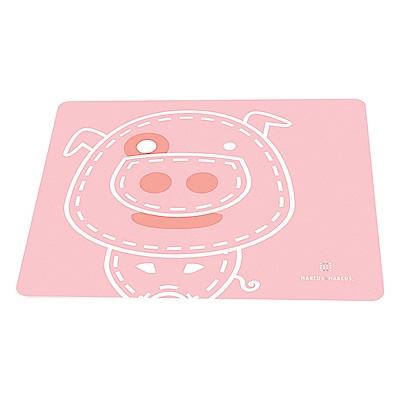【MARCUS&MARCUS】動物樂園矽膠餐墊-粉紅豬