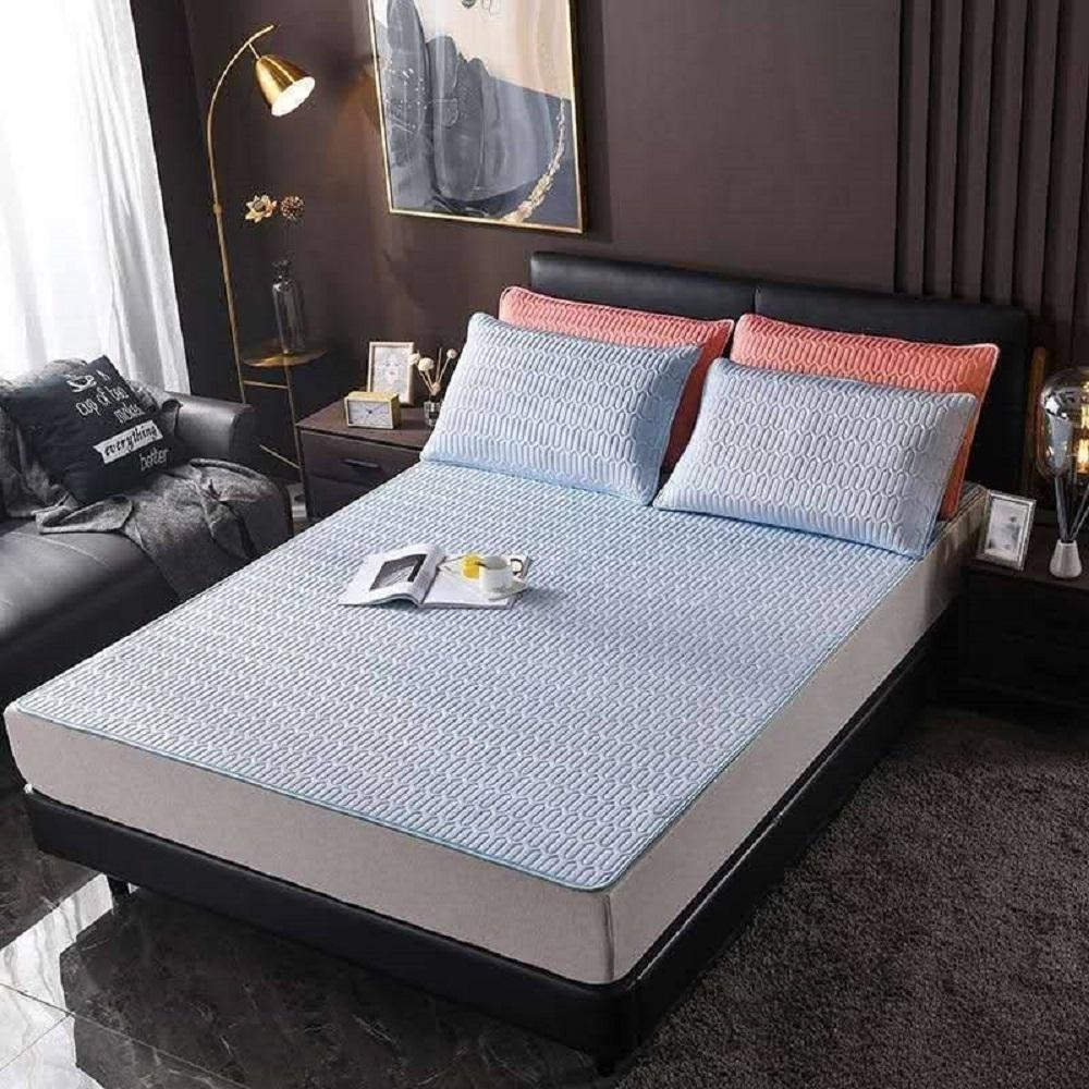(時時樂限定)YCB 雙人冰絲涼感乳膠床墊+枕墊x2(夏天省電降溫)