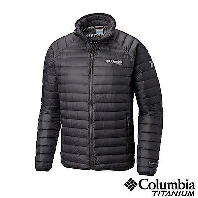 Columbia哥倫比亞 男款-鈦 Omni-heat 3D保暖立領羽絨外套-黑色