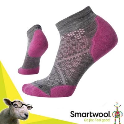 SmartWool 美國製造 美麗諾羊毛 PhD RUN 低筒輕薄羊毛跑步襪(2入)/戶外襪.排汗襪.休閒襪_粉霧紫