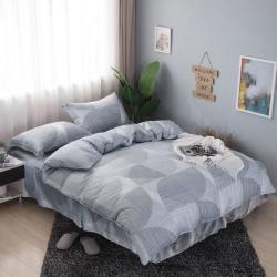 夢工場淺淺微影40支紗萊賽爾天絲四件式鋪錦床罩組-加大
