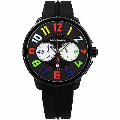 Tendence 天勢 GuTendenclliver 立體休閒計時手錶IP黑/50mm