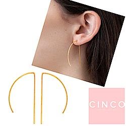 葡萄牙精品 CINCO Valentina earrings 24K金耳環 極簡線型耳環