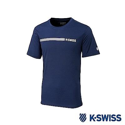 K-SWISS PF Solid Tee排汗T恤-男-藍