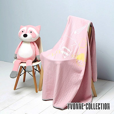 Yvonne Collection 浣熊雙人包紗薄被 (6x7呎)-淺粉