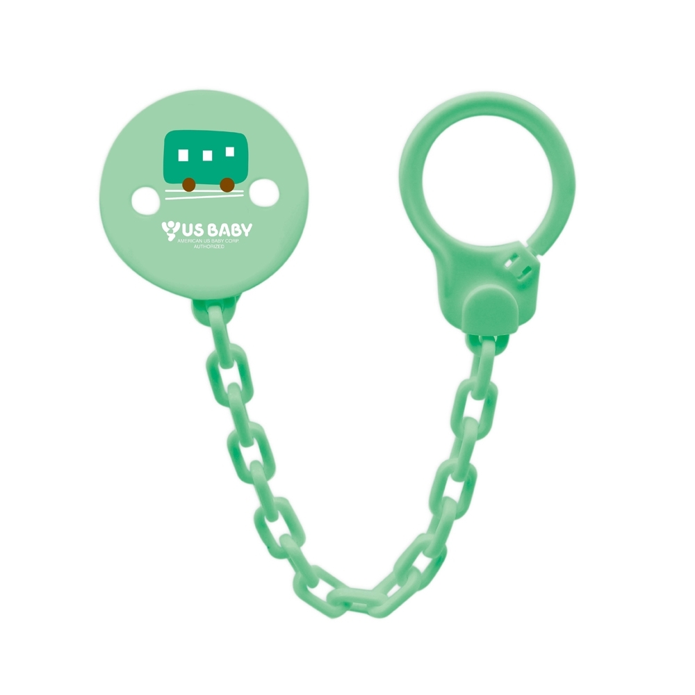 任選-優生輕鬆扣安撫奶嘴鏈-綠車