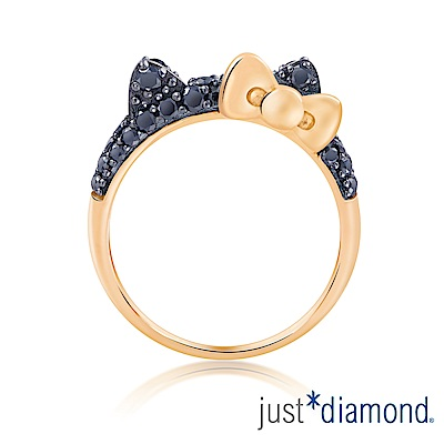 Just Diamond Hello Kitty黑鑽風潮18K金系列 鑽石戒指(大)