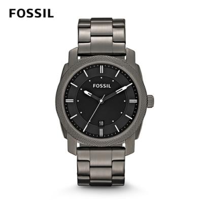 FOSSIL MACHINE SMOKE 灰色不鏽鋼男錶 42mm FS4774