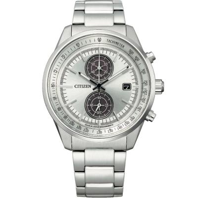 星辰 CITIZEN GENTS光動能時尚計時腕錶(CA7030-97A)-白/41mm