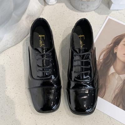 KEITH-WILL時尚鞋館 英倫假期復古皮鞋-亮皮黑