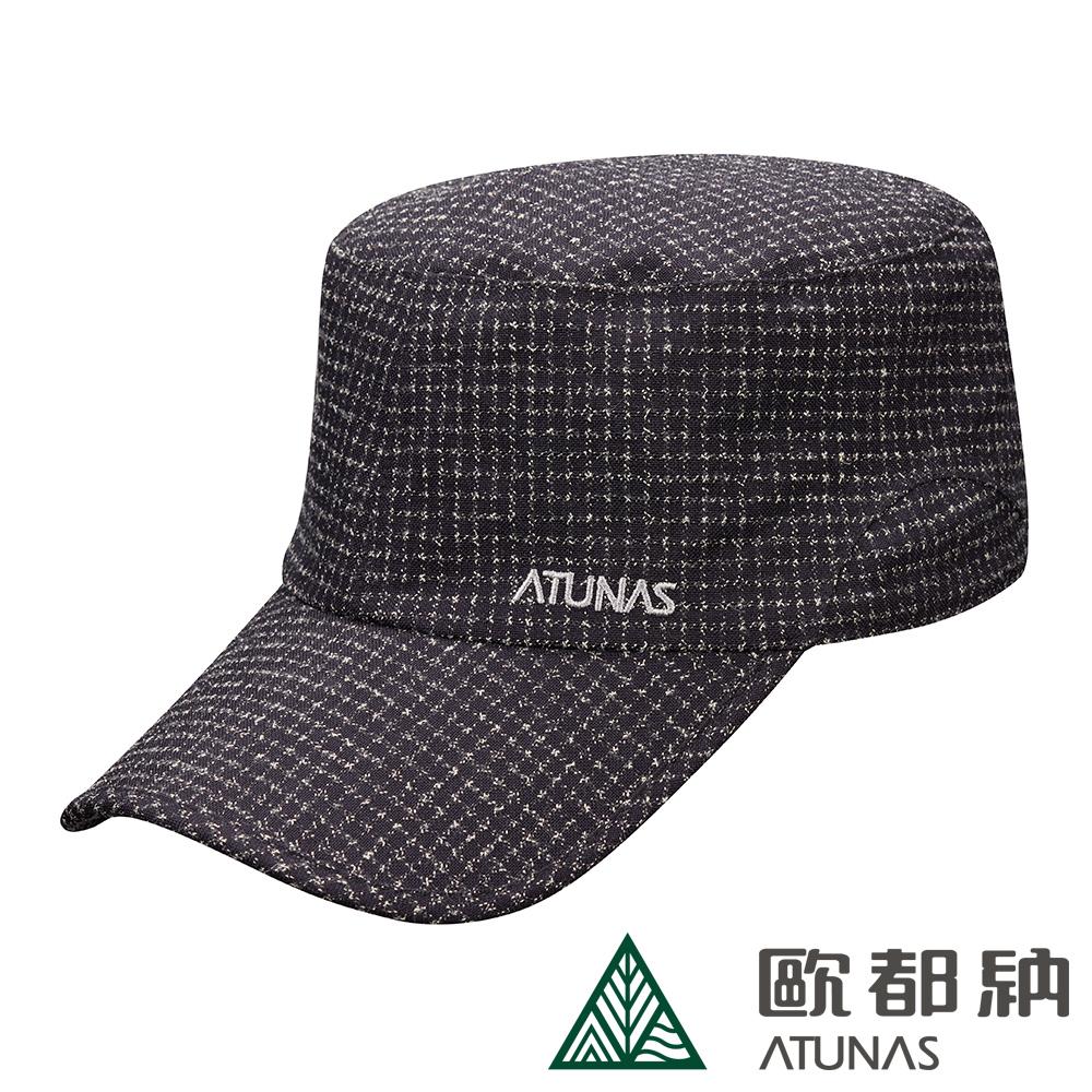 【ATUNAS 歐都納】GORE-TEX防水防風透氣防曬中性休閒方帽(A-A1824黑格)