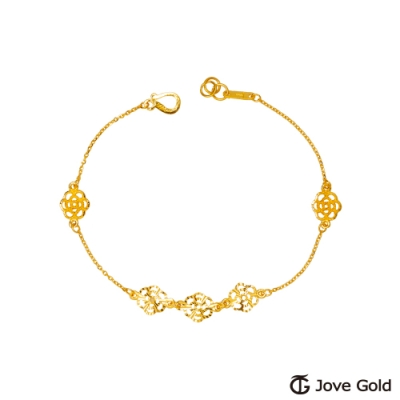 Jove Gold 漾金飾 古典蕾絲黃金手鍊