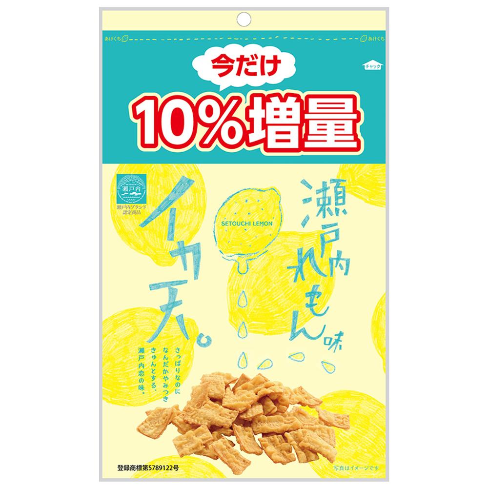 日本MARUKA 瀨戶內檸檬風味魷魚脆餅-增量10%限定版(94g)