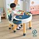 +O家窩 丹尼兔兒童多功能學習/遊戲積木桌椅套組-送台製OK牌積木(1kg) product thumbnail 1