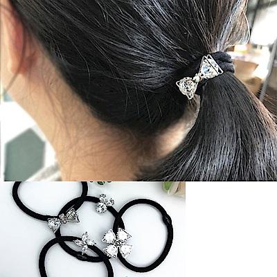 Hera 赫拉 歐美鑲鋯石髮圈-5入組(隨機)