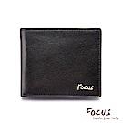 FOCUS原皮時尚黑9卡透明窗左右掀男短夾(FGB2950)
