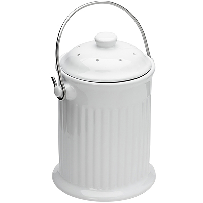 《FOXRUN》陶製廚餘桶(白)