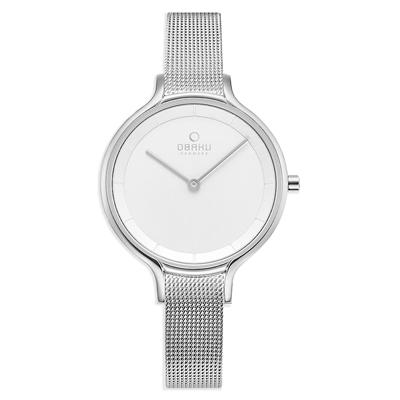 OBAKU 現代藝術美學腕錶-銀(V228LXCIMC)/32mm