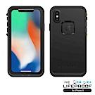 LIFEPROOF iPhone X專用 防水防雪防震防泥超強保護殼-FRE (黑)