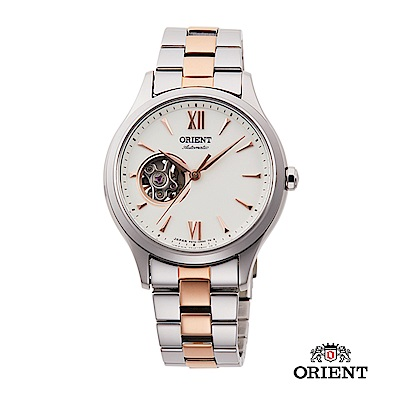 ORIENT 東方錶 ELEGANT系列 優雅小鏤空機械錶 鋼帶款 玫瑰金 36mm