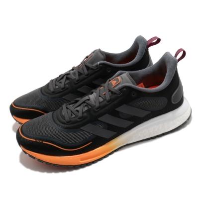 adidas 慢跑鞋 Supernova C RDY 男鞋 Boost Bounce 混合中底 運動 黑 橘 FV4761