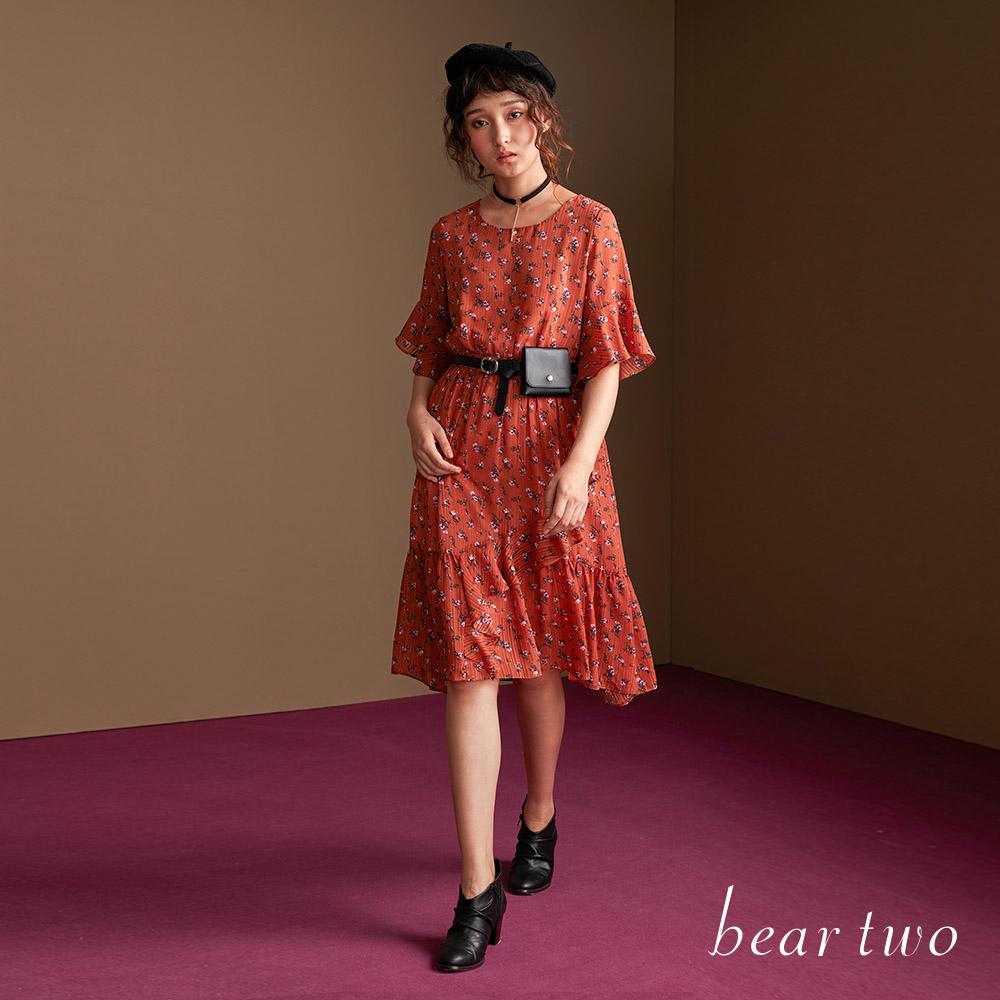 beartwo 優雅時尚小碎花洋裝(二色)