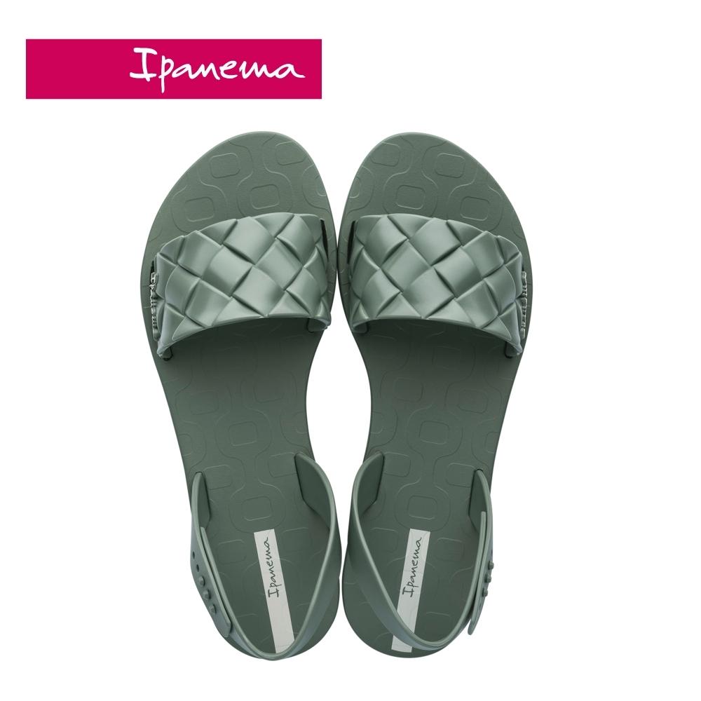 Ipanema  GO TREND菱格紋一字涼鞋-灰綠