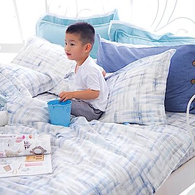 OLIVIA skittles 藍 加大雙人床包冬夏兩用被套四件組 天絲™萊賽爾 台灣製