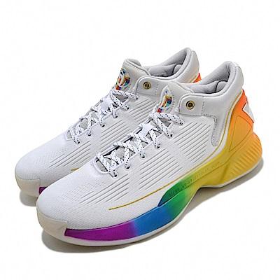adidas 籃球鞋 D Rose 10 Pride 男鞋 愛迪達 彩虹驕傲 飆風玫瑰 Bounce 白 彩 FX4795