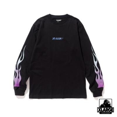 XLARGE LST FIRE STANDARD LG長袖T恤-黑