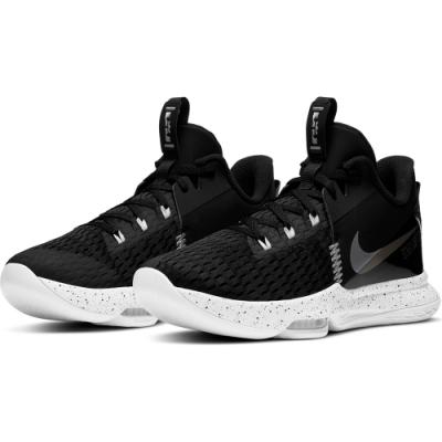 NIKE 籃球鞋 運動鞋 包覆 緩震 男鞋 黑白 CQ9381002 LEBRON WITNESS V EP