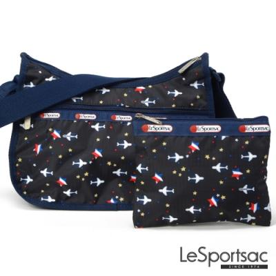 LeSportsac - Standard側背水餃包/流浪包-附化妝包 (夢想起飛)