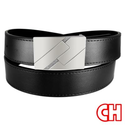CH-BELT新潮設計時尚型男紳士扣皮帶腰帶(黑)
