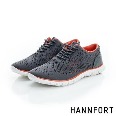 HANNFORT ZERO GRAVITY編織牛津氣墊鞋 女 都會灰