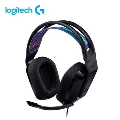 羅技 G335 輕盈電競耳機麥克風