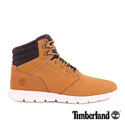 Timberland 男款小麥黃絨面皮革Graydon抗水運動靴