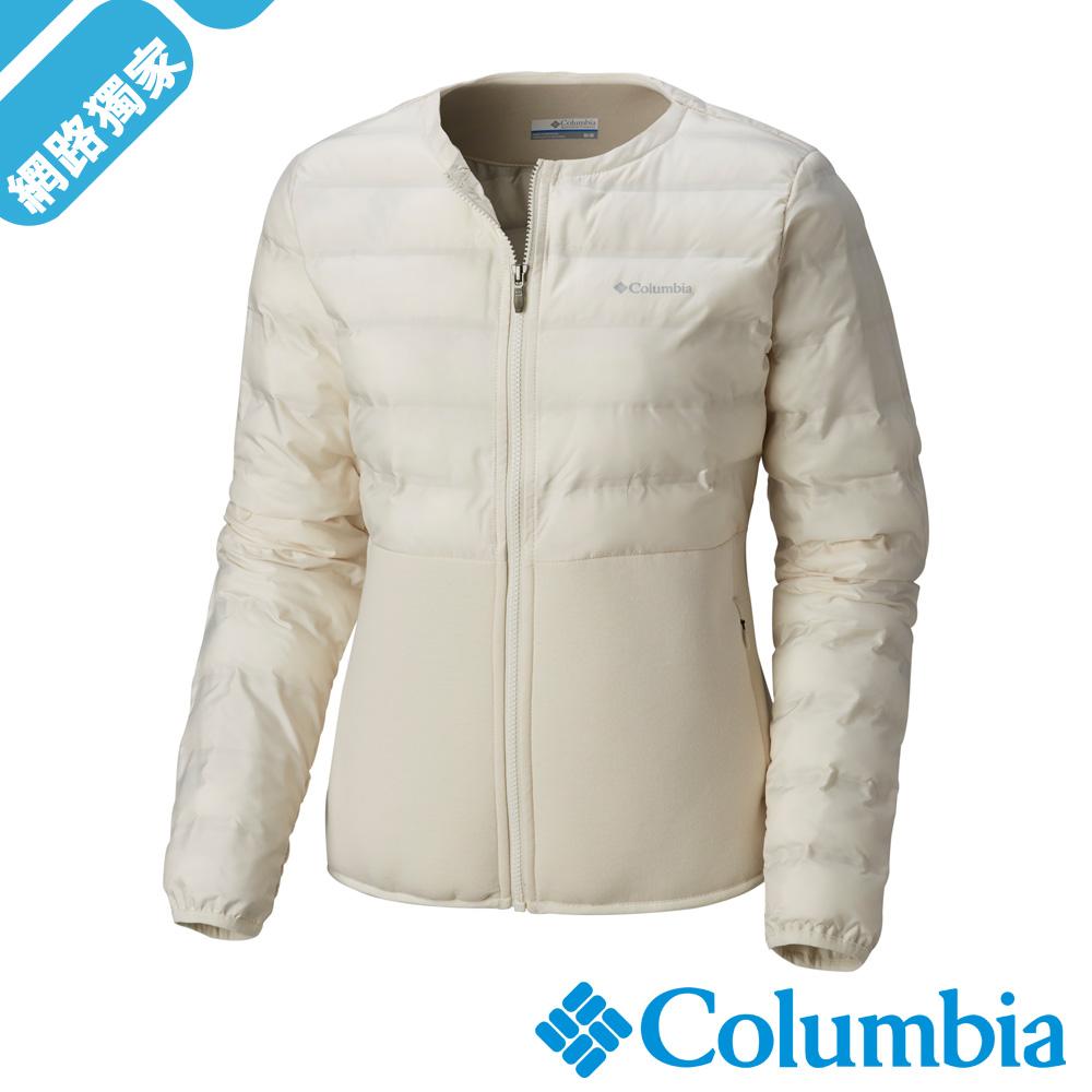 Columbia哥倫比亞 女款-Omni-Shield 防潑快排外套-米白