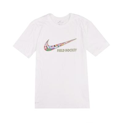 Nike T恤 Field Hockey Tee 女款 DRI-FIT 吸濕排汗 國旗 圓領 白 彩 561423100FH05