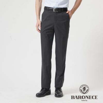 BARONECE 百諾禮士休閒商務  男裝 舒適彈力平口西裝褲--灰色(1188860-98)