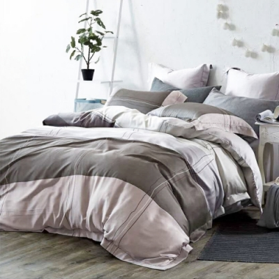 LAMINA 純品 雙人100%天絲四件式兩用被套床包組