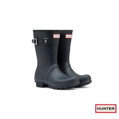 HUNTER - 女鞋-霧面短靴 - 海軍藍