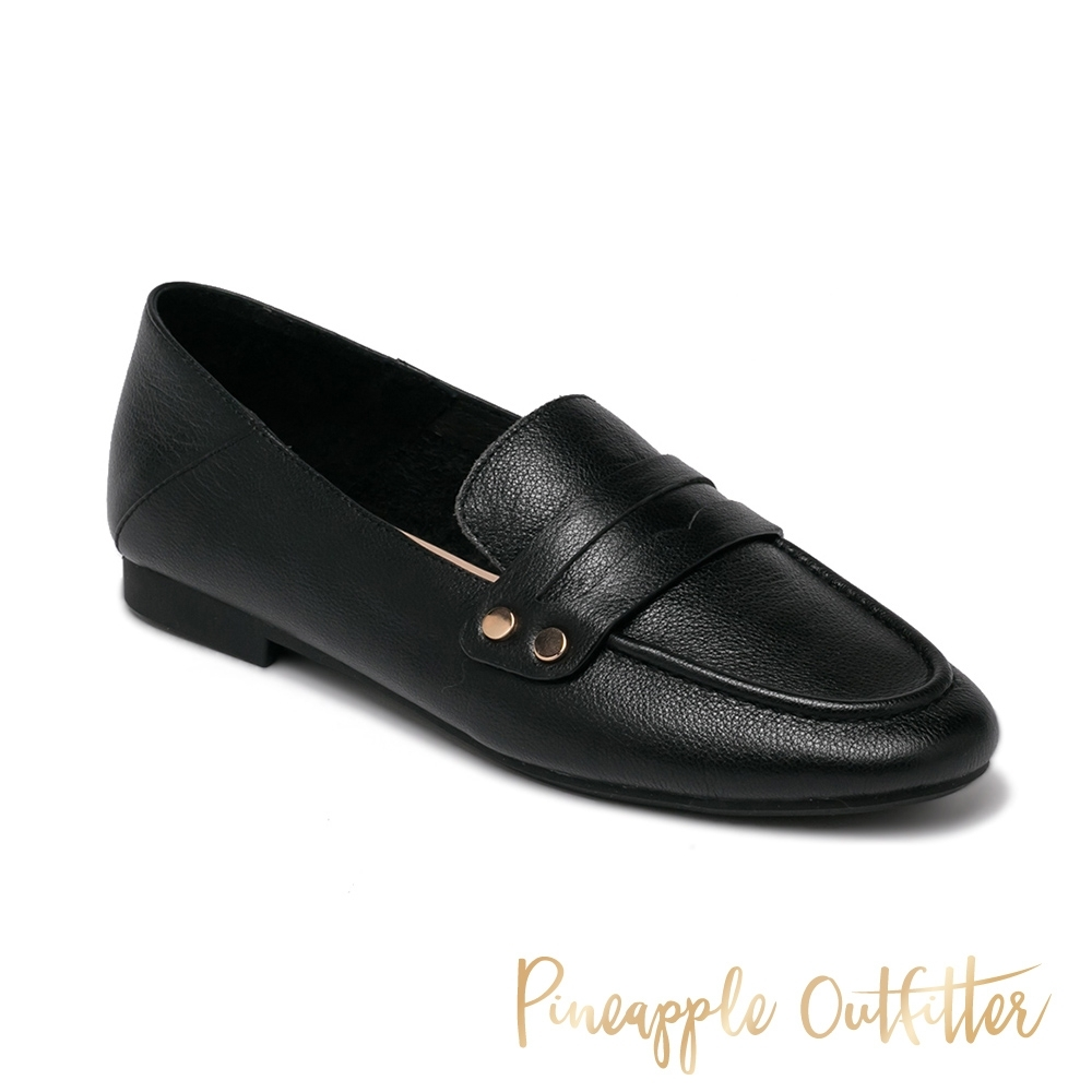 Pineapple Outfitter - MADRID 真皮舒適典雅樂福女鞋-黑色